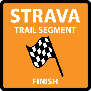 Strava Trail Segment - Finish - Sign Decal