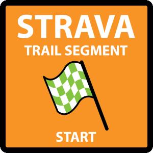 Strava Trail Segment - Start - Sign Decal